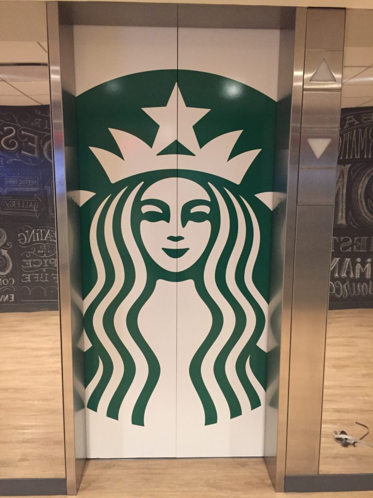 Elevator Graphics | Starbucks
