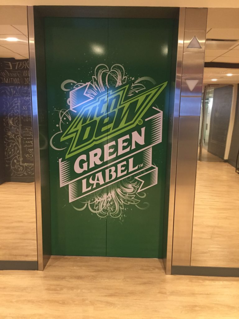 Elevator Graphics | Mountain Dew