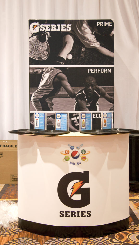 Trade Show Displays | Gatorade Sampling