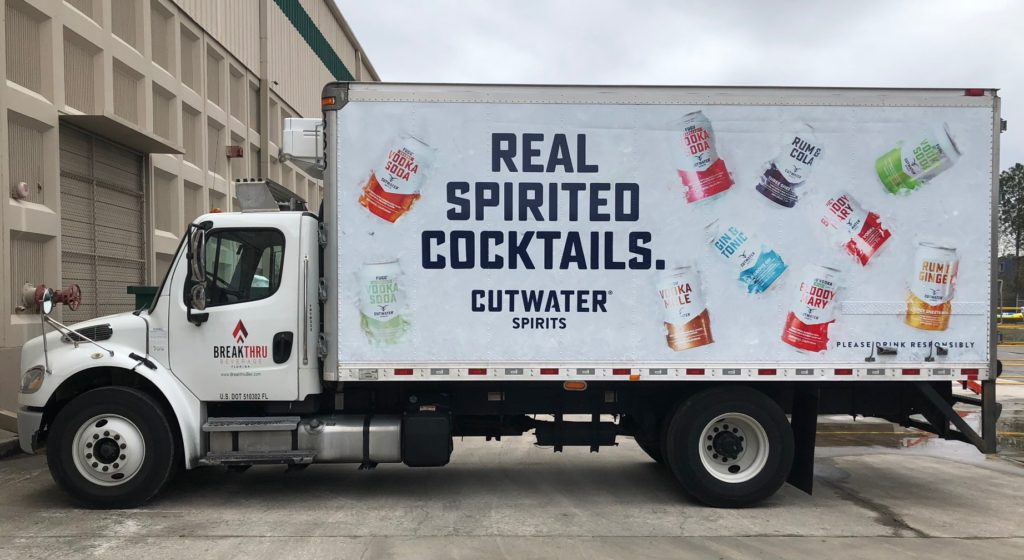 Fleet Graphics/Truck Wraps | Cutwater Spirits