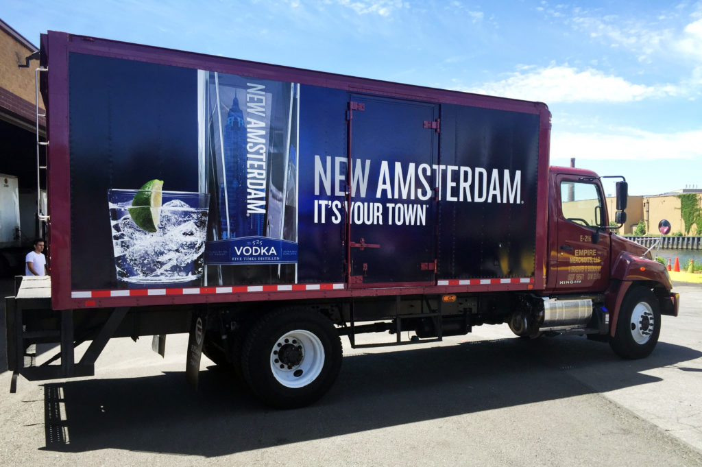 Fleet Graphics/Truck Wraps | New Amsterdam Vodka