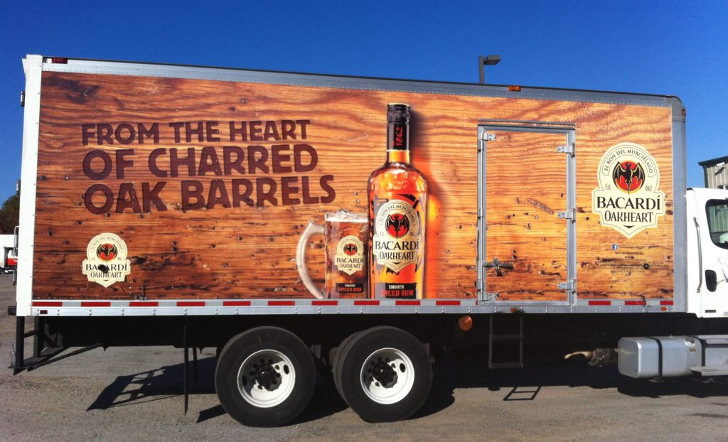 Fleet Graphics/Truck Wraps | Bacardi Oakheart